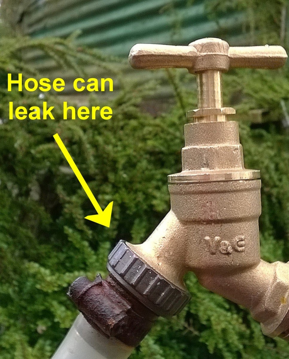 A leaking hose connector is caused by a worn O-ring
