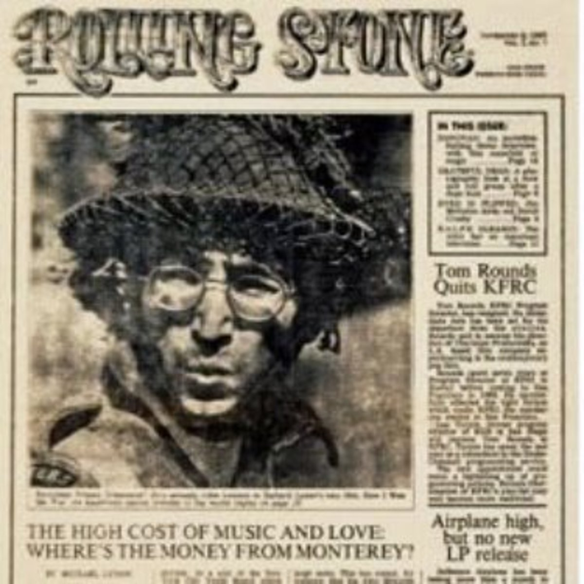 """The First Issue of """"Rolling Stone"""" Magazine"""