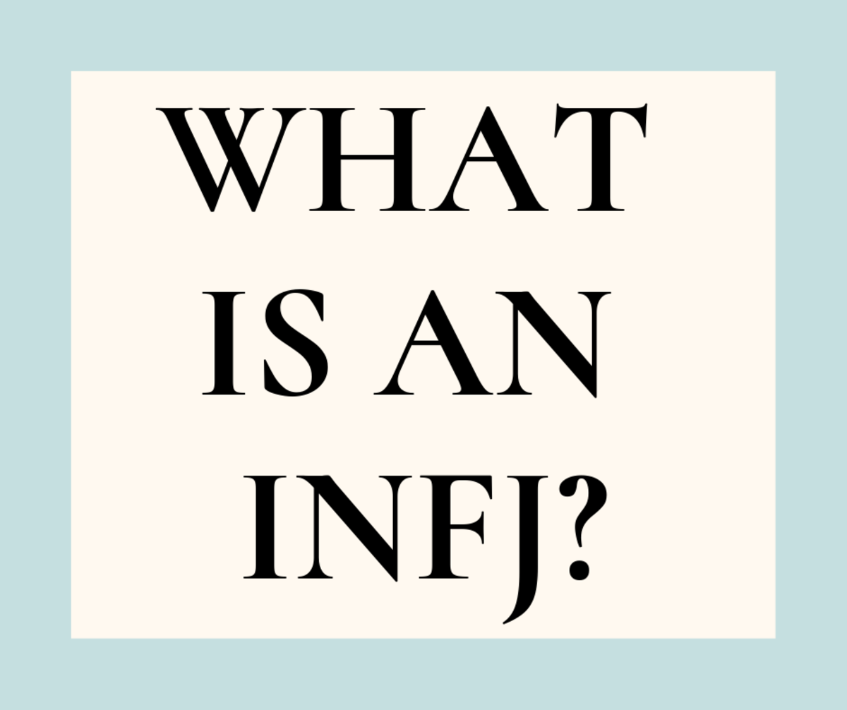 An INFJ is a Myers-Briggs personality type that stands for: Introverted, Intuition, Feeling, and Judging.
