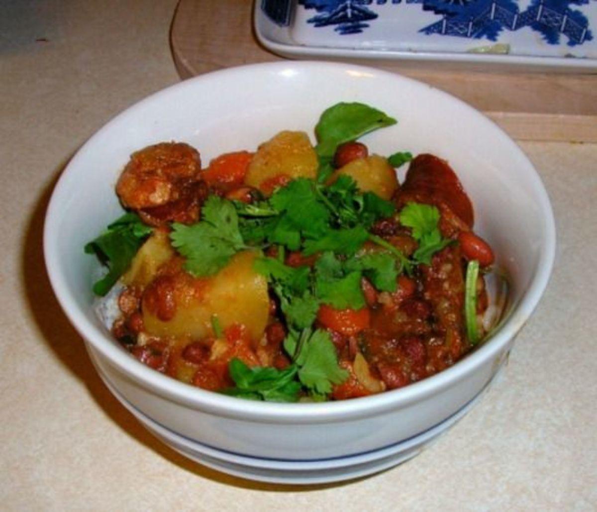 Hawaiian-Style Portuguese Bean Soup