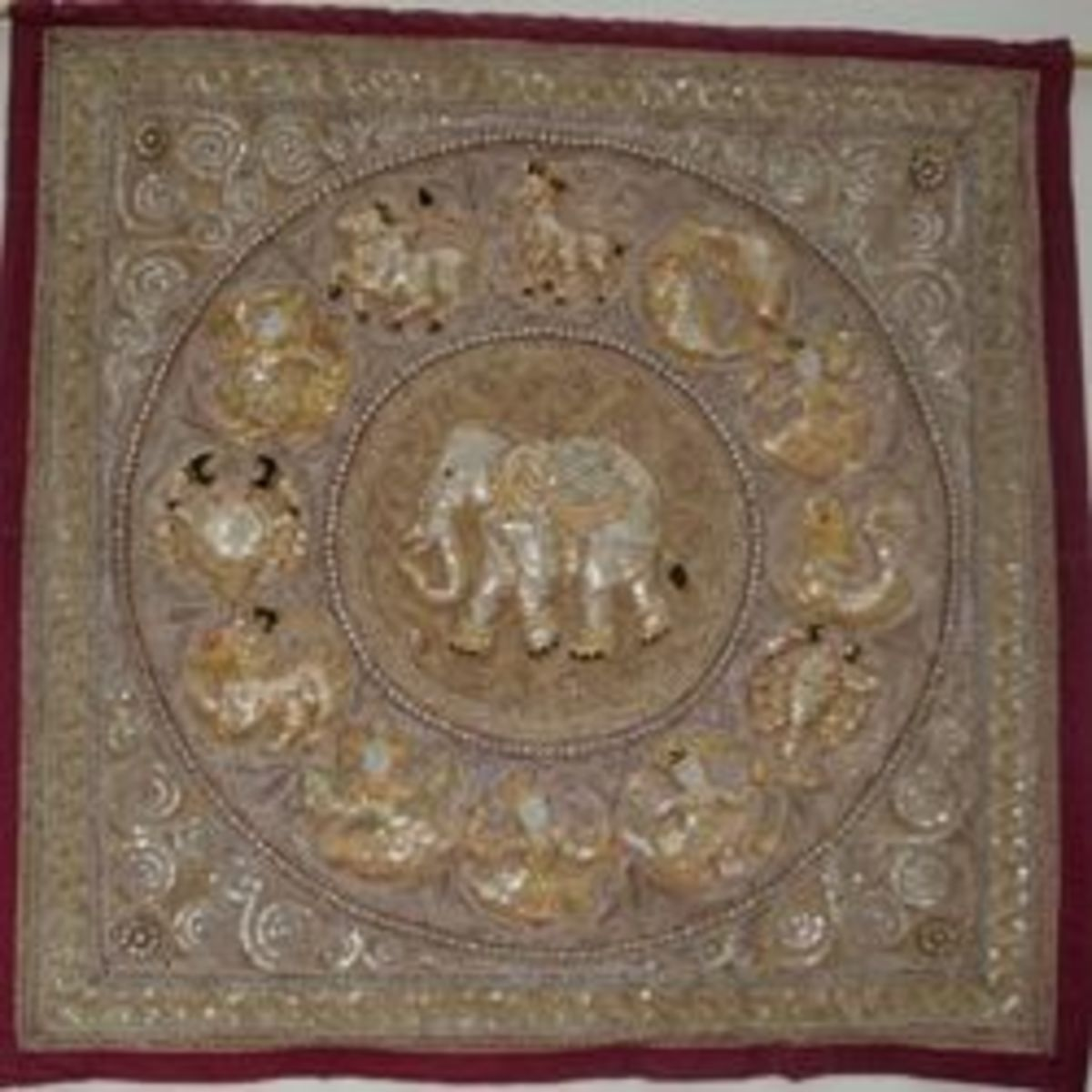 Kalagas - Burmese Bead Embroidered Tapestries