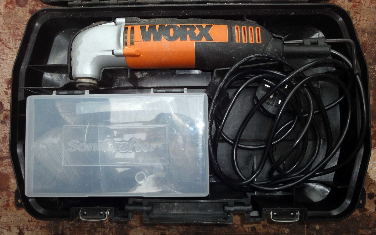 Worx Sonicrafter power tool and accessories