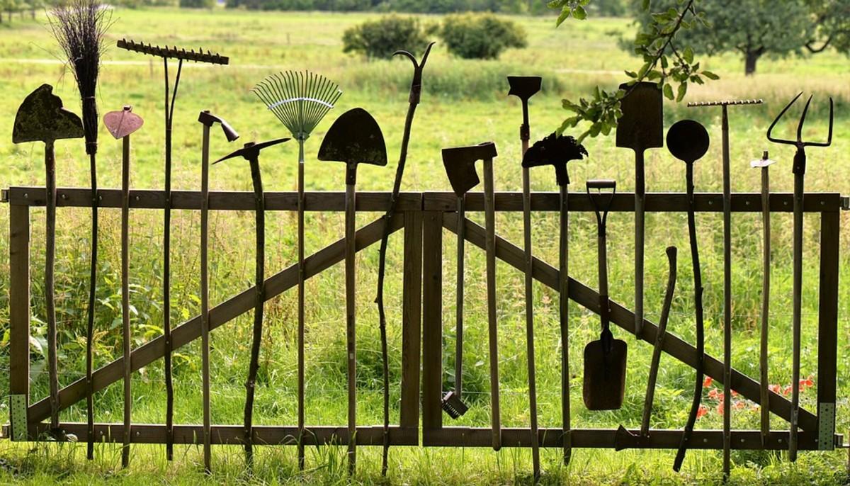 Garden equipment ready to go