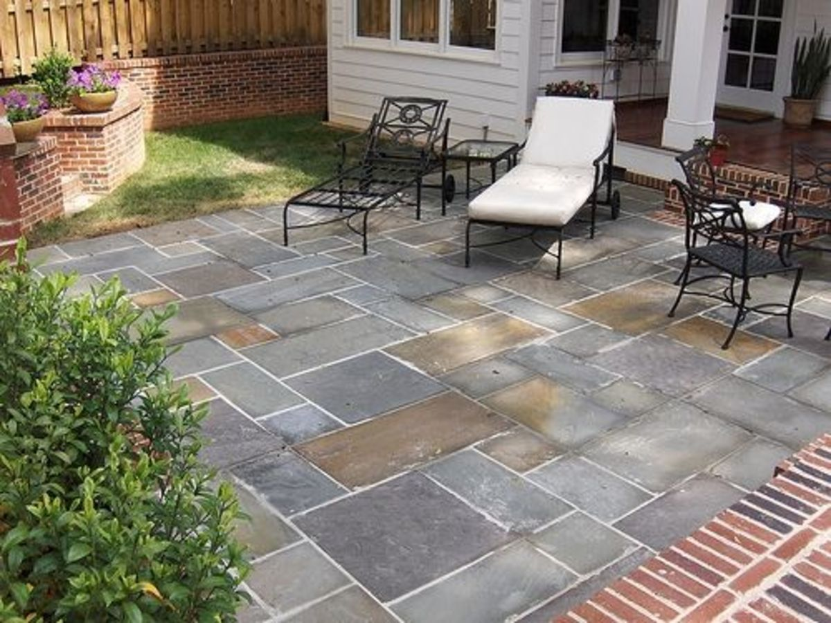 Patterned Concrete Patio