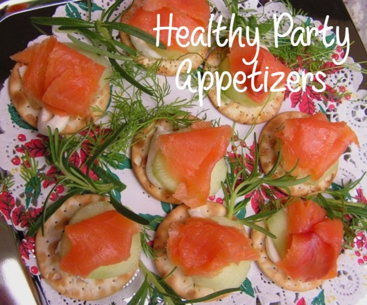 Smoked salmon canapes are both simple and healthy