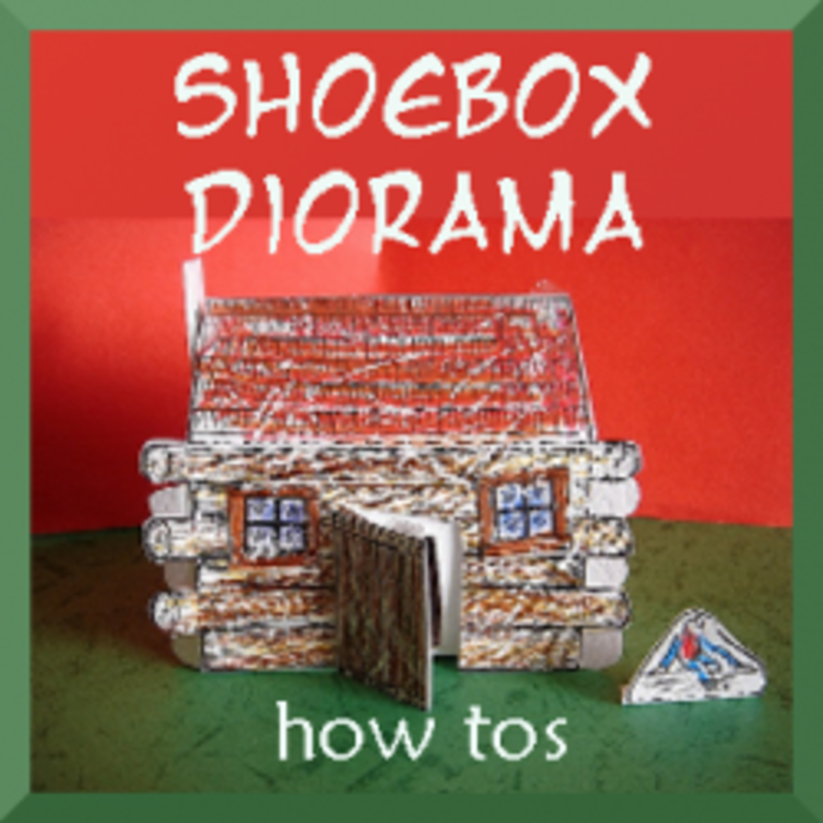 How To Make A Shoebox Diorama Feltmagnet