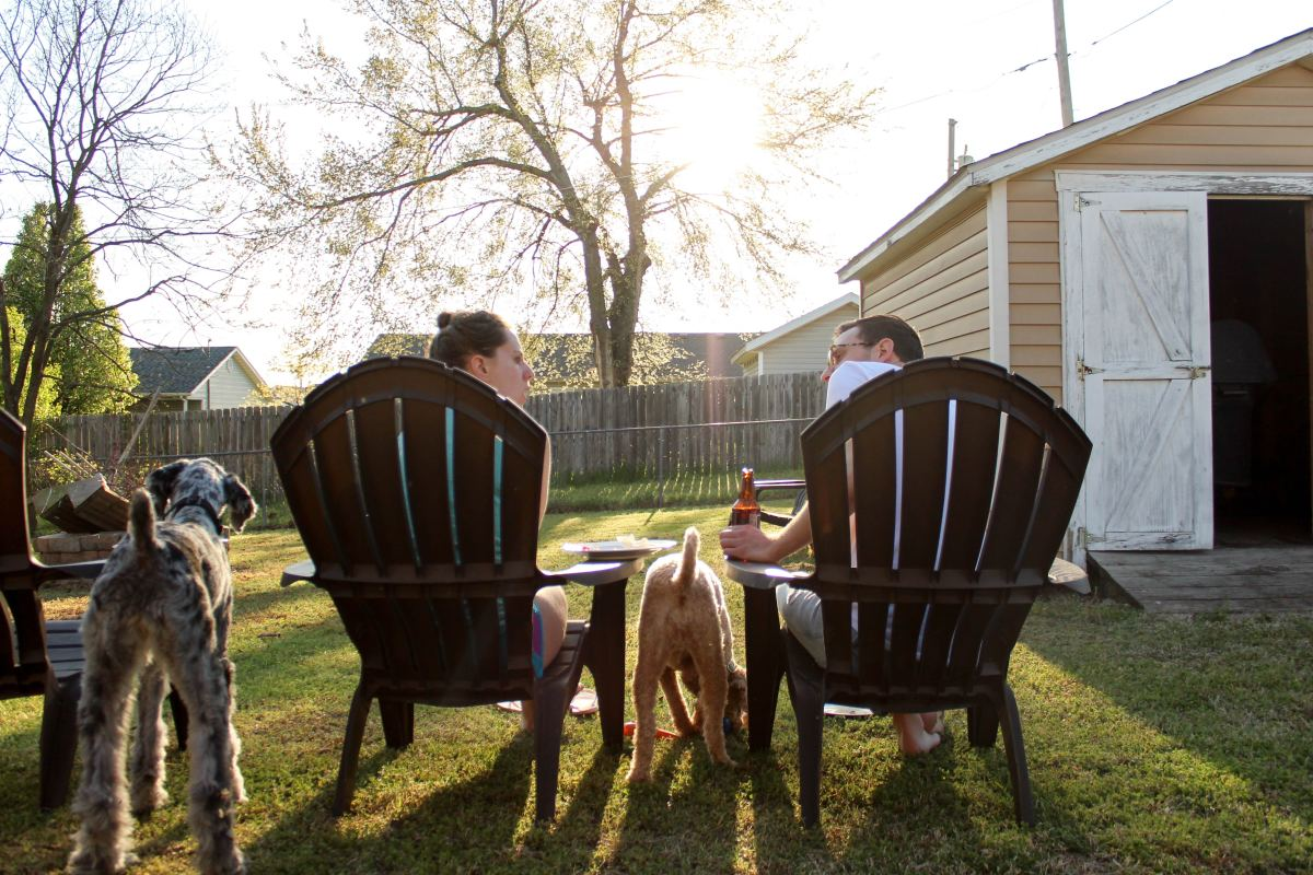 Sitting in your backyard