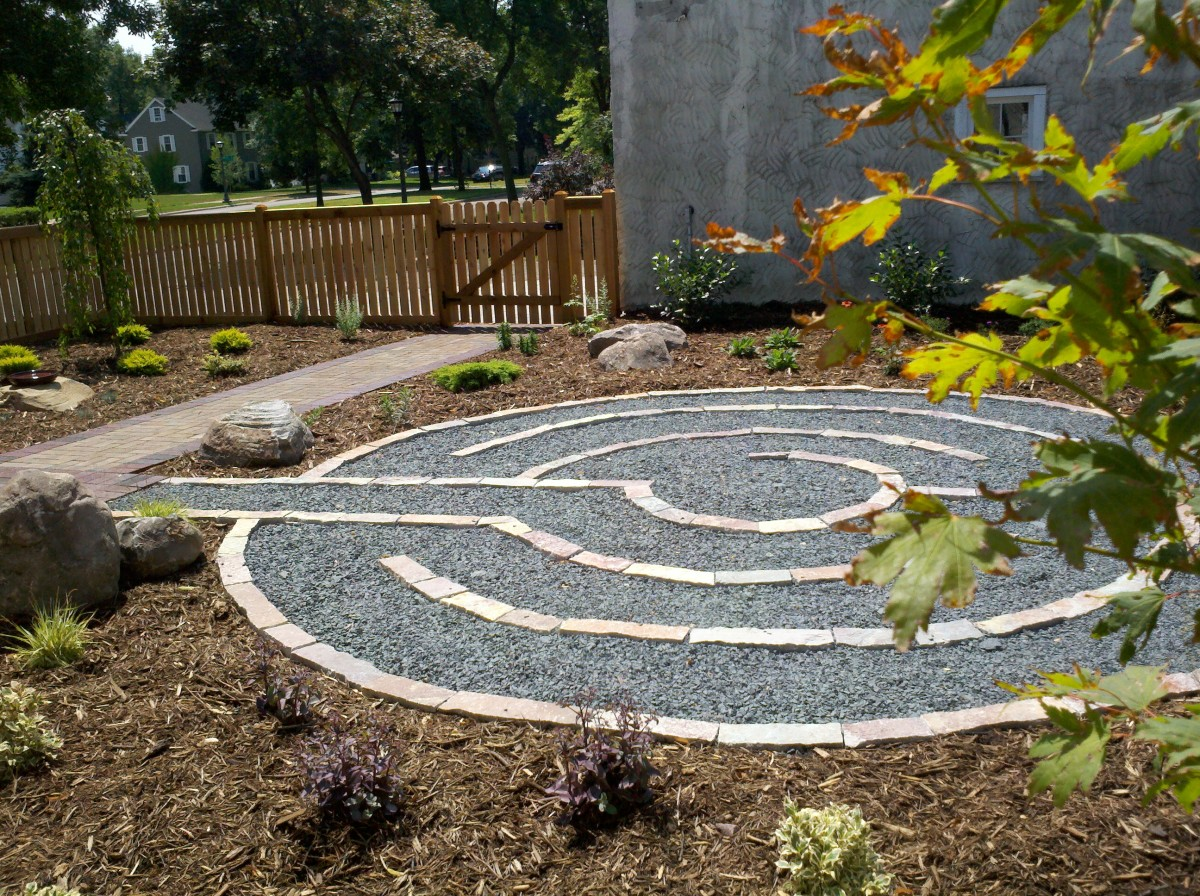 Labyrinth made with pavers