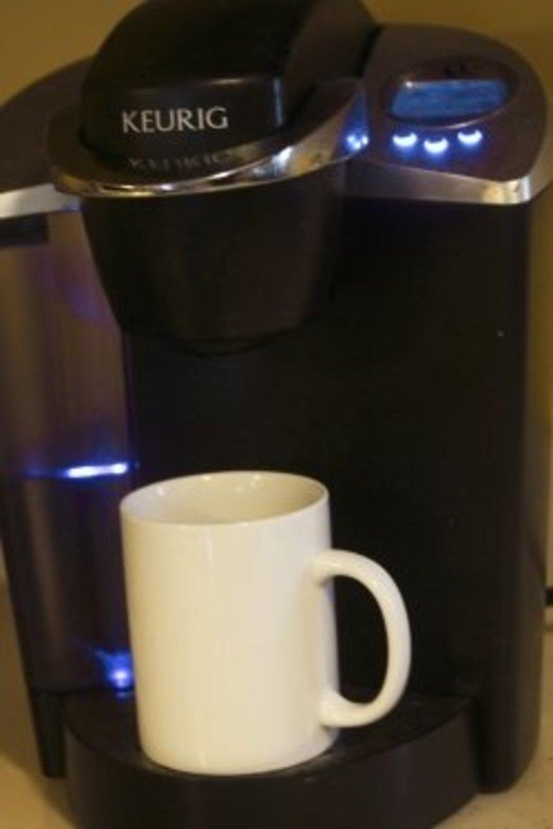 A Keurig coffee machine.