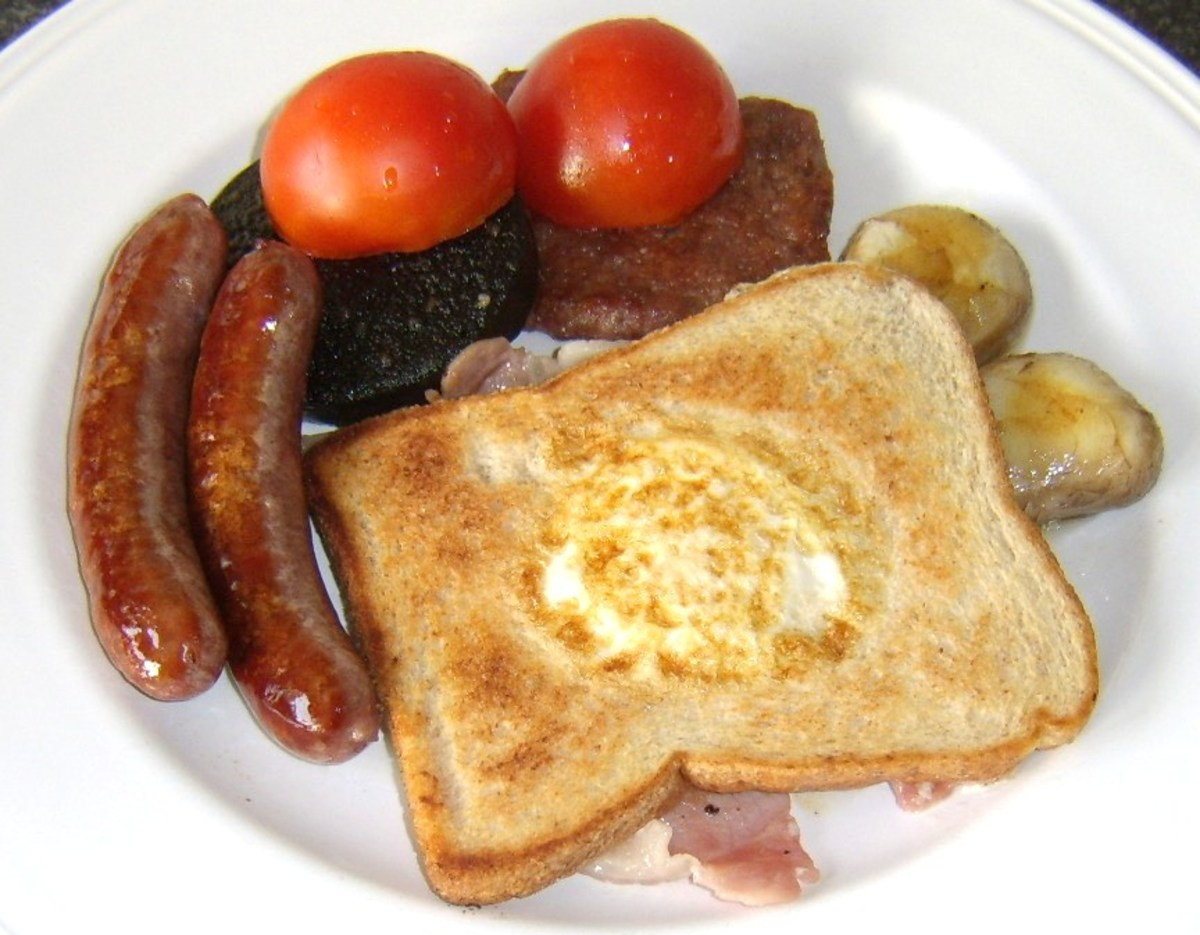 One of the many representations of a full Scottish breakfast
