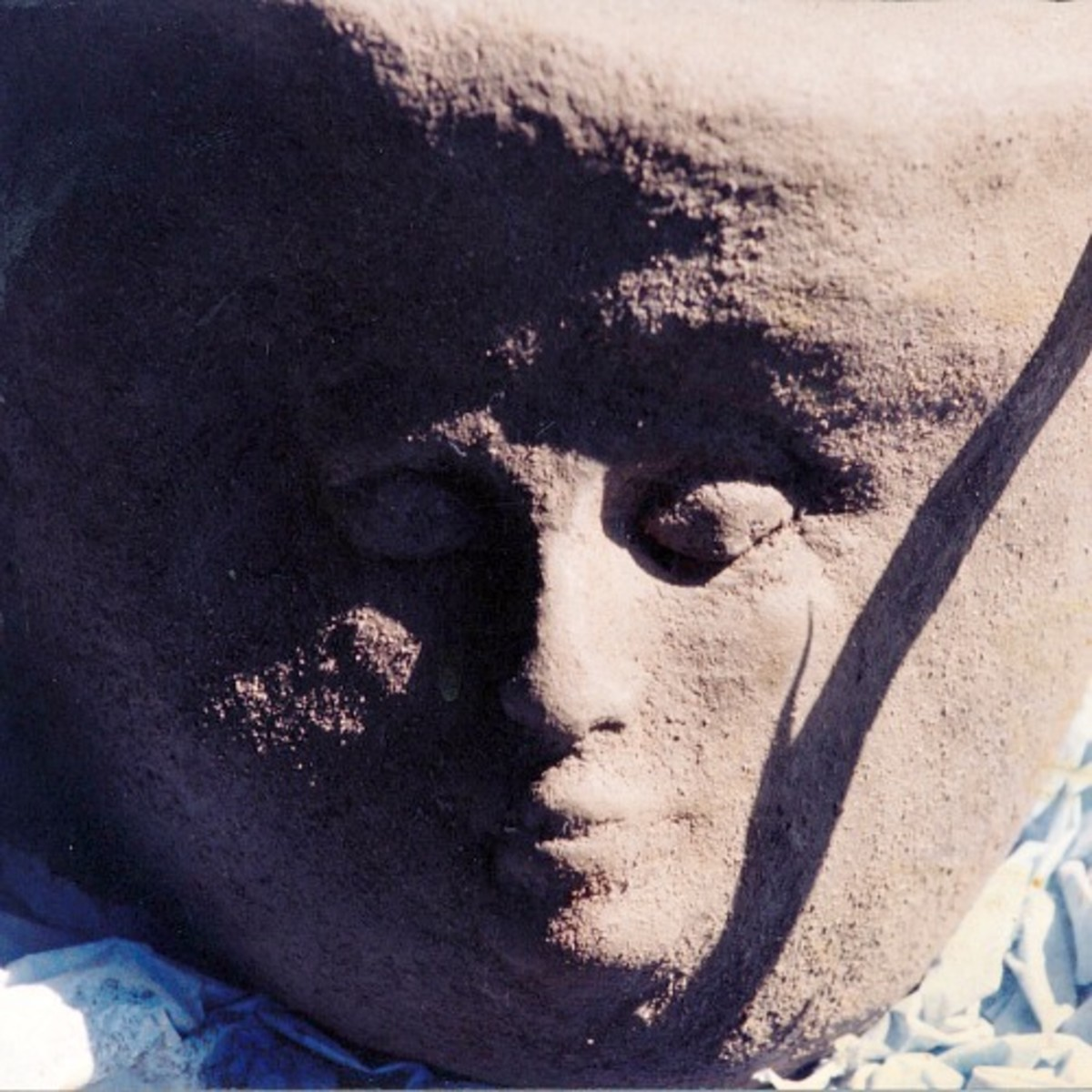 Sculptured Hypertufa Container