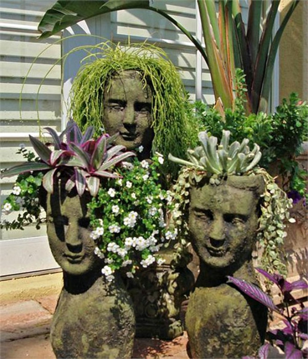 Sculpture Face Hypertufa Planters