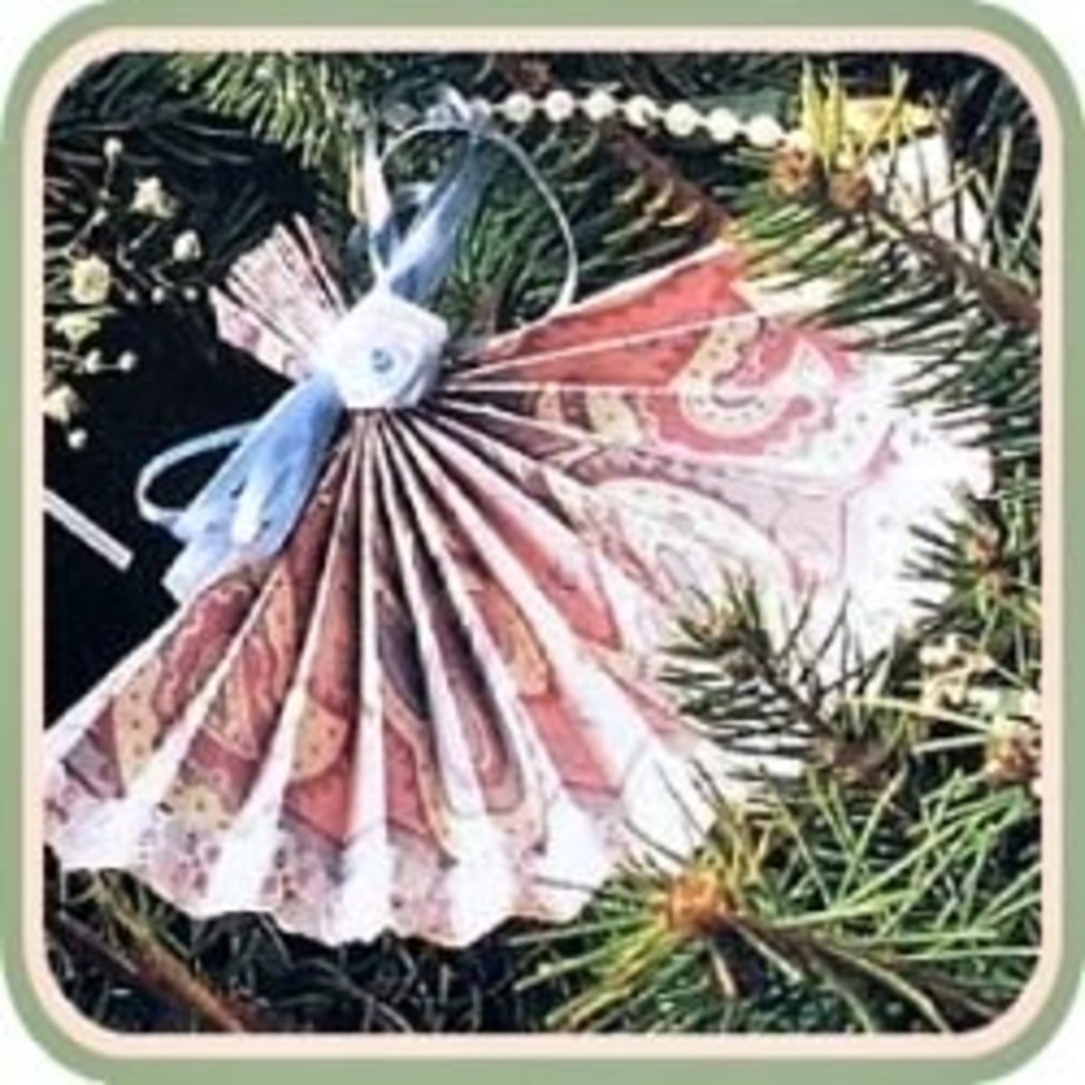handmade victorian lace christmas ornaments