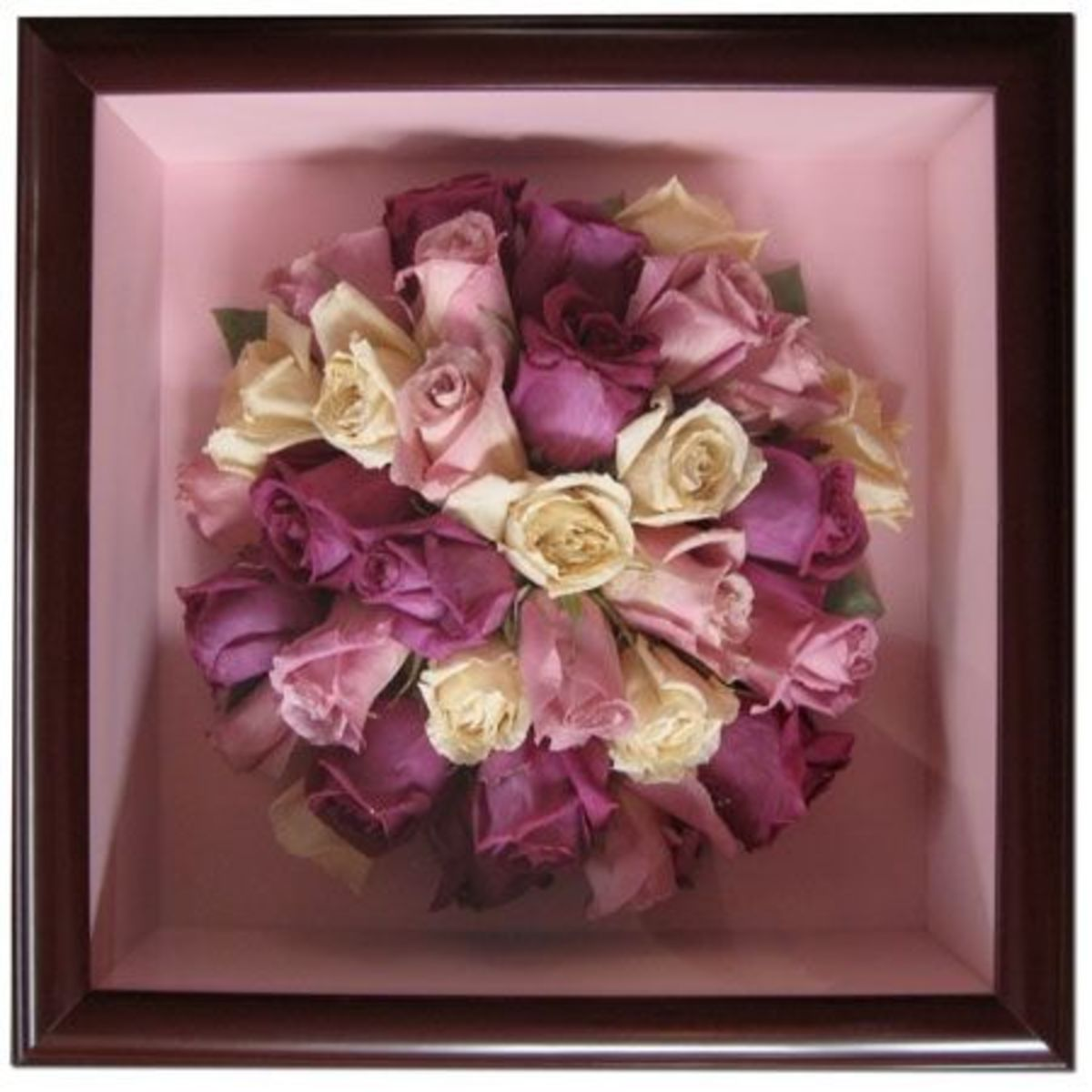 Freeze dried rose bouquet.