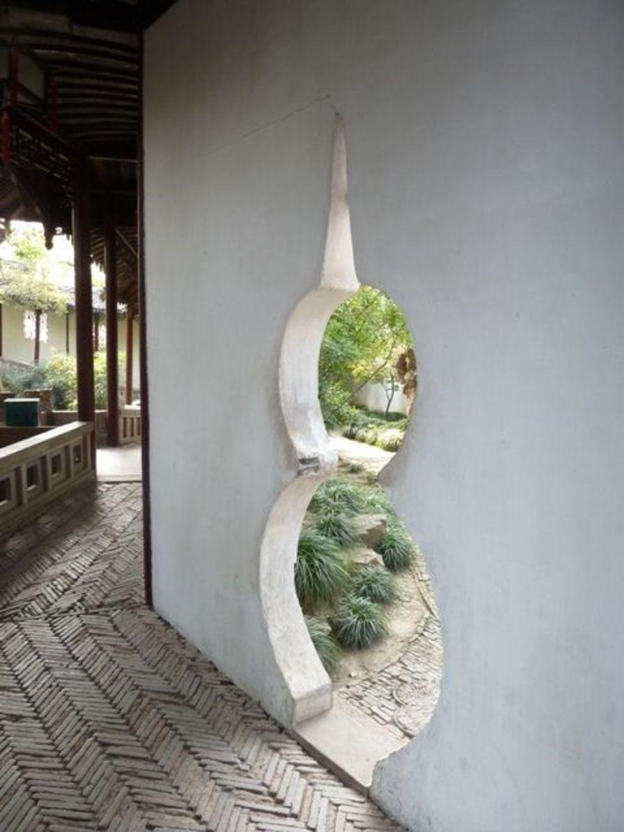 Chinese garden door