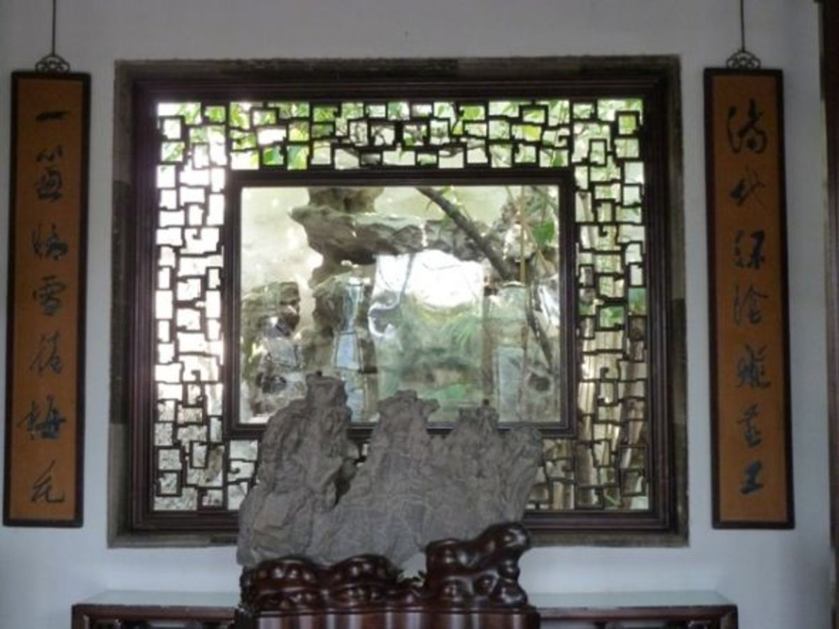 Chinese garden window lattice