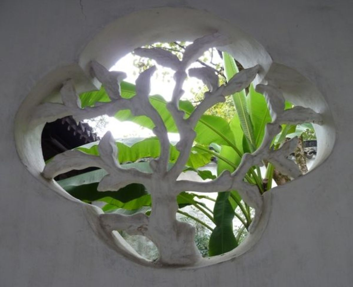 Chinese garden window design