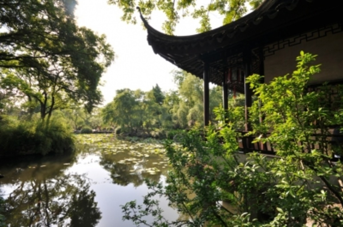 Chinese gardens draw upon hundreds of years of inspiration for their designs.