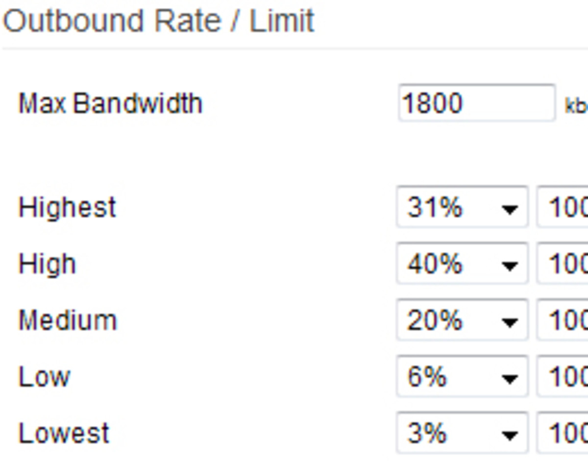 Bandwidth Management for Home Networks