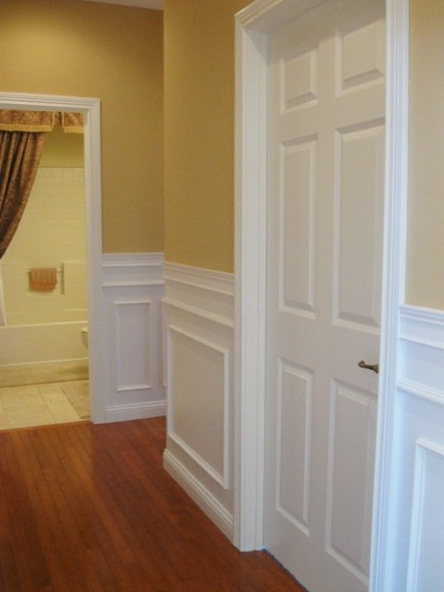 Wainscoting (wood panels lining the lower part of the walls) is a great way to add personality to a room.