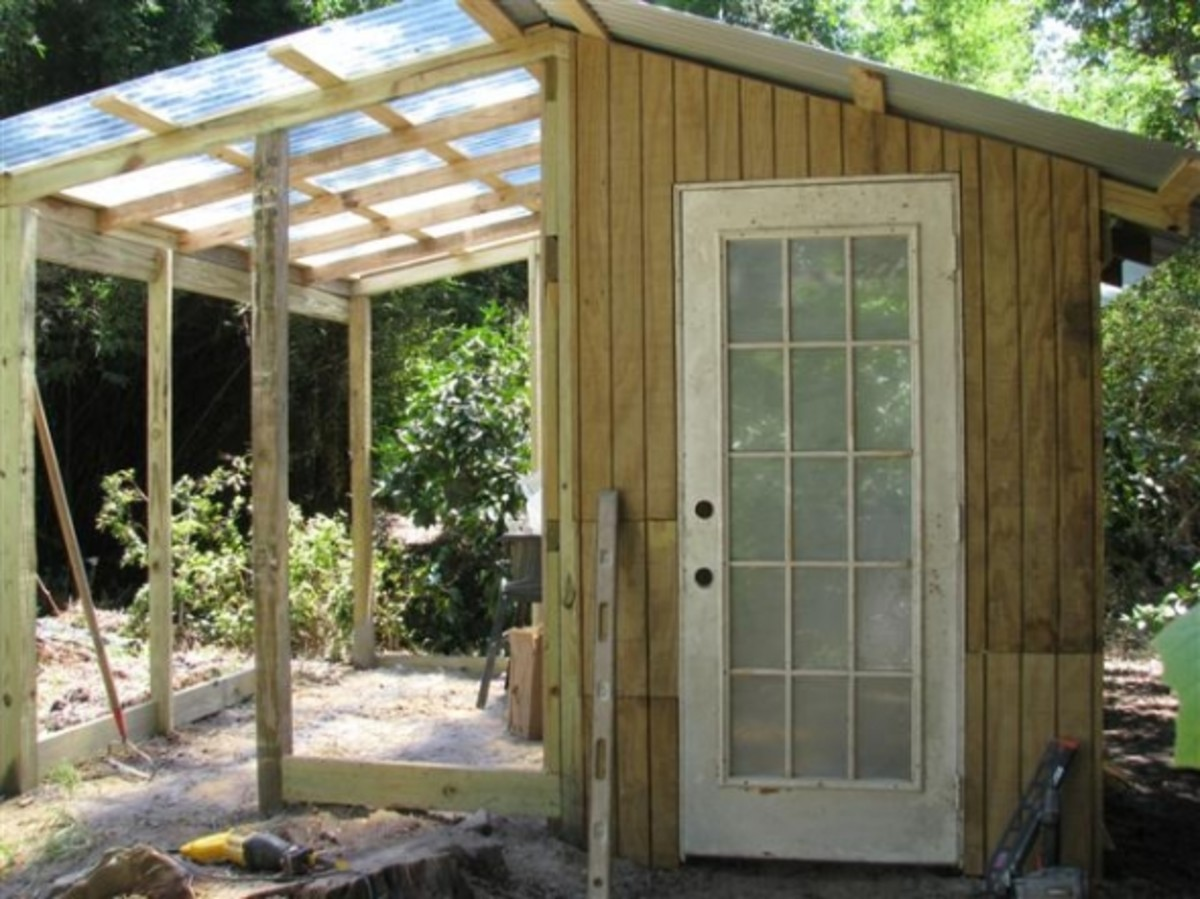 Chicken Coop And Greenhouse Construction