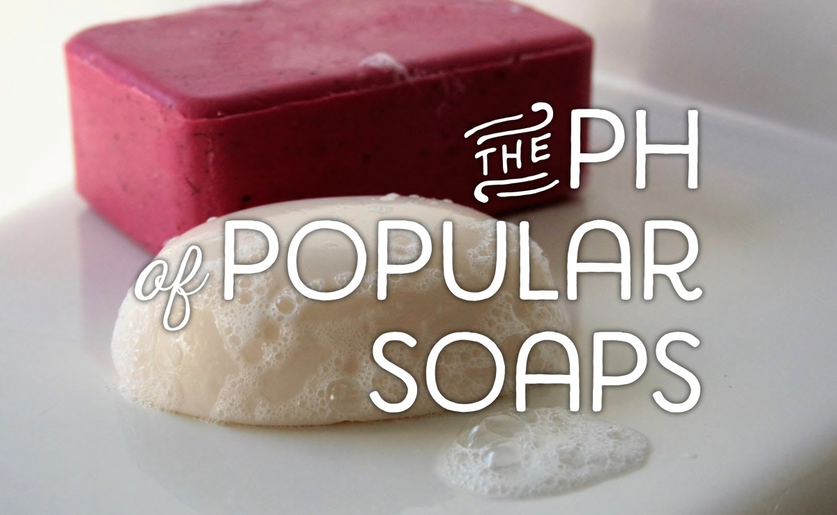 The pH of popular soaps