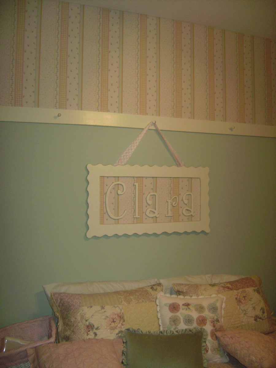 Chair rail can be installed 24 30 inches from the ceiling for a