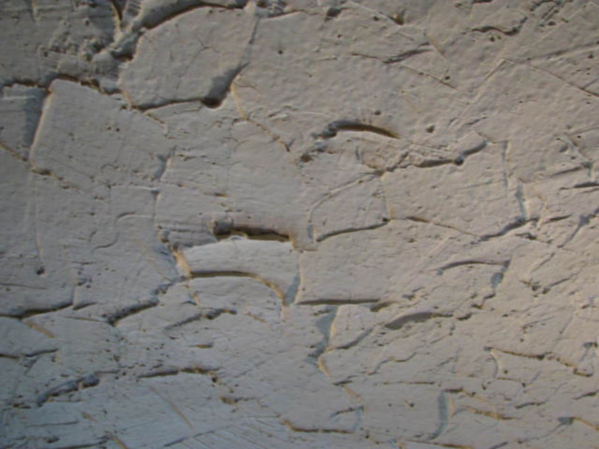 rough plaster close-up