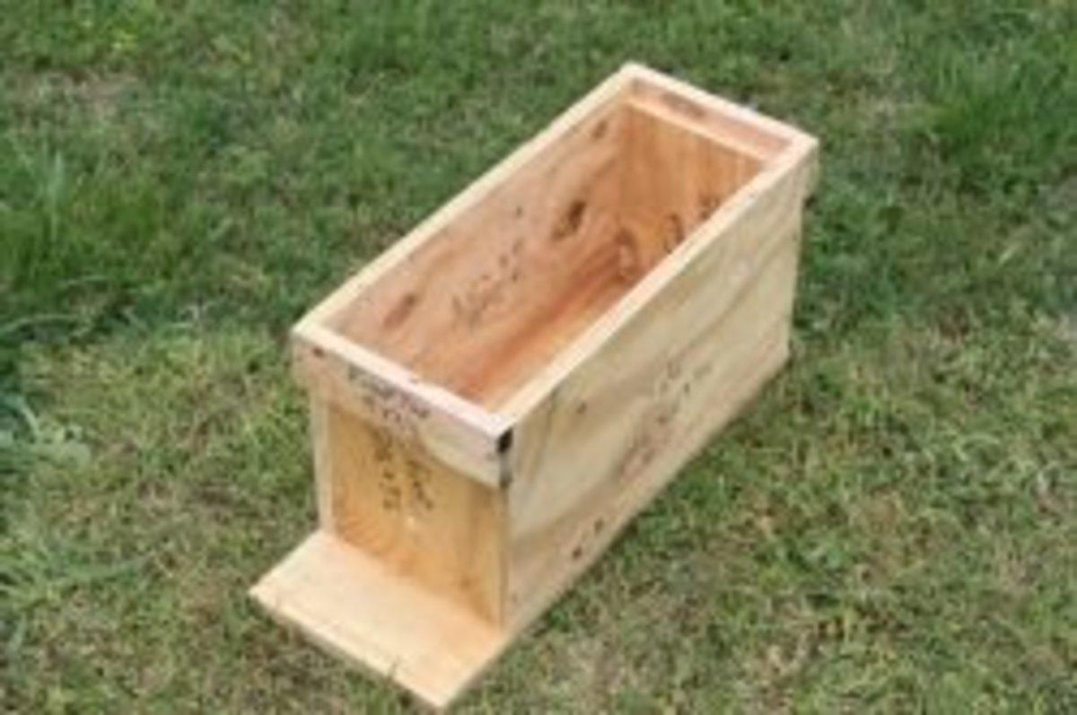 Attaching a bottom board to my nuc box.