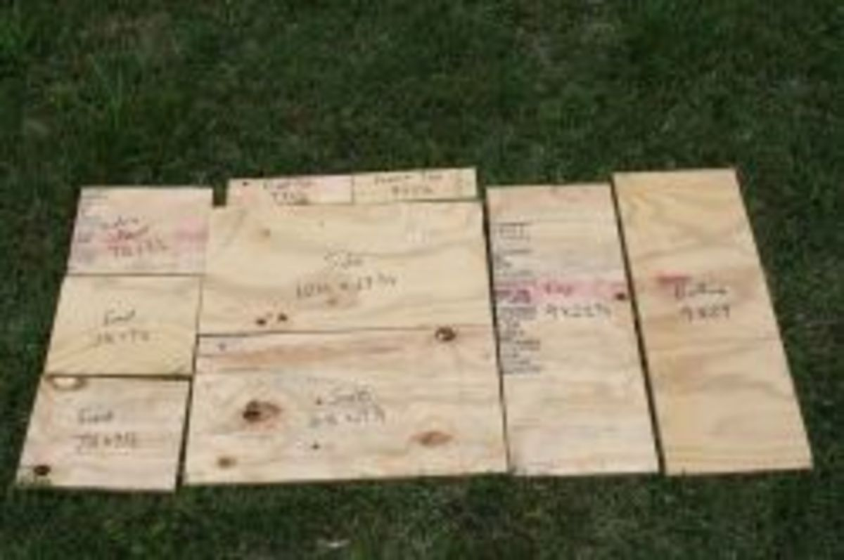 Wood Cutting Pattern for a Nuc Box