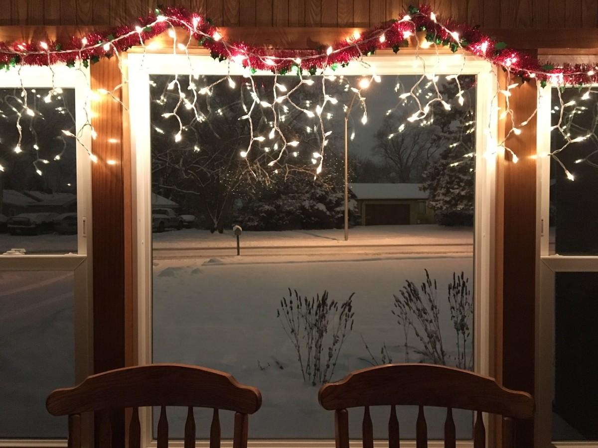Elegant lights inside bring your dining room alive.
