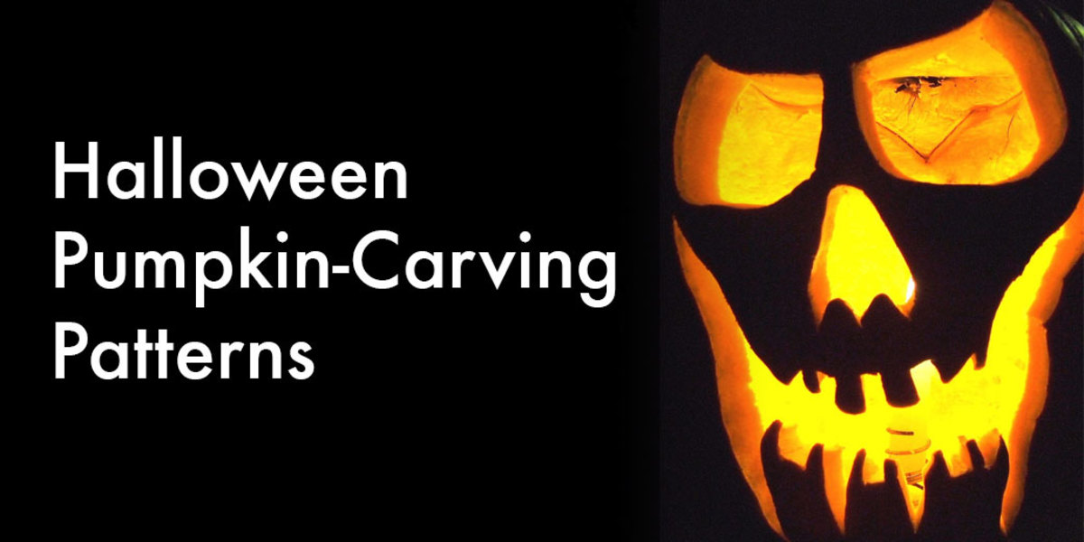 Halloween pumpkin-carving patterns.