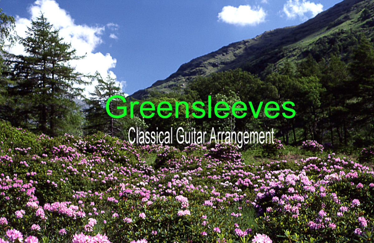 Greensleeves—Fingerstyle Guitar Tab & Notation