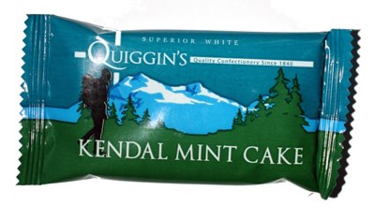 "Quiggin's is the oldest of the companies which make traditional Kendal mint cake (they've been in business since 1880.  They describe themselves as ""The Home of Kendal Mint Cake"".  They also produce Rum & Brandy Butters, Truffles & Marzipan, Fudges,."