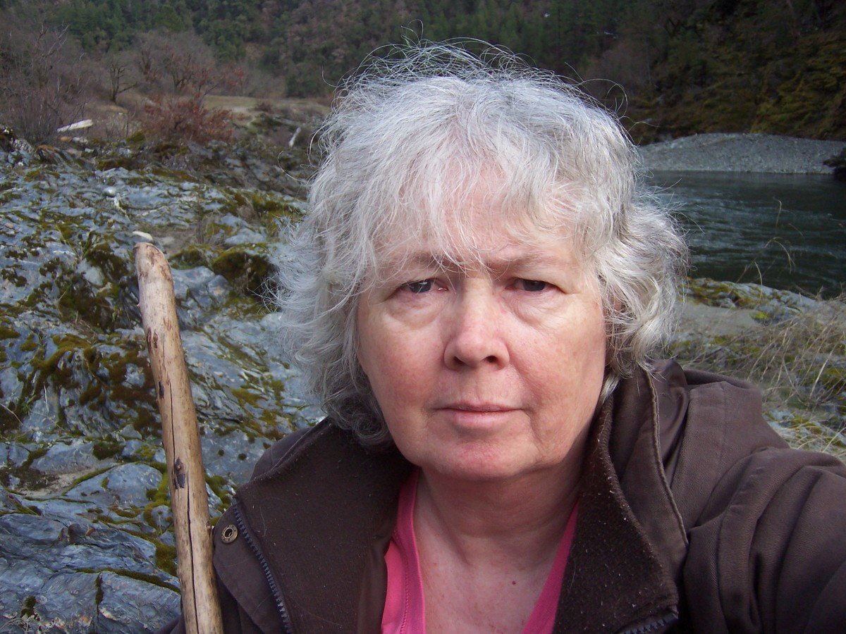 This is a photo of me from 2009 when I was still living in the Klamath River Valley, where I lived for 13 years until I made my grand escape in 2013, as described on this page.