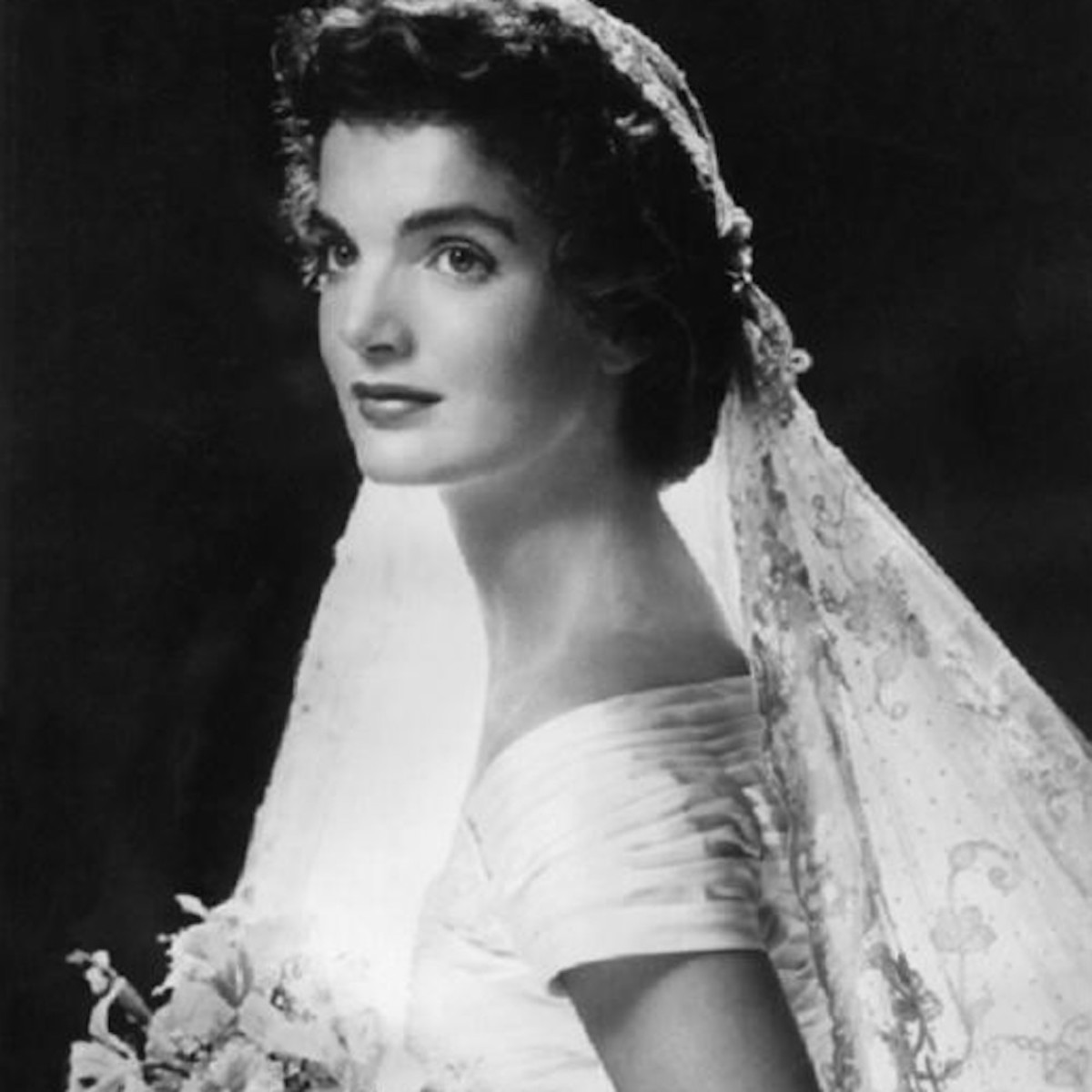 Jackie Kennedy on her Wedding Day, Rhode Island, 12 September, 1953