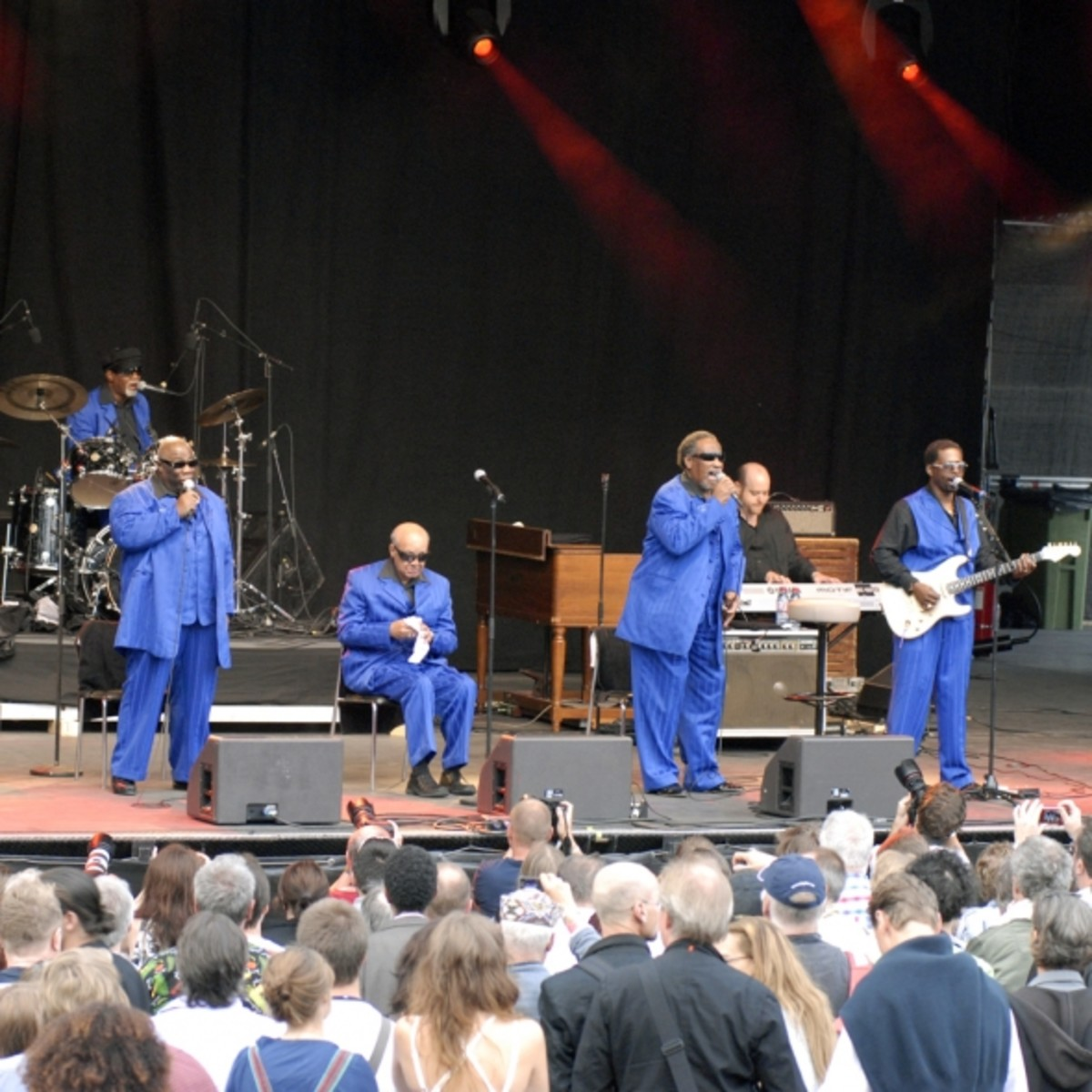 The Blind Boys of Alabama perform in Stockholm.  Shared on Wikimedia Commons by Kotoviski