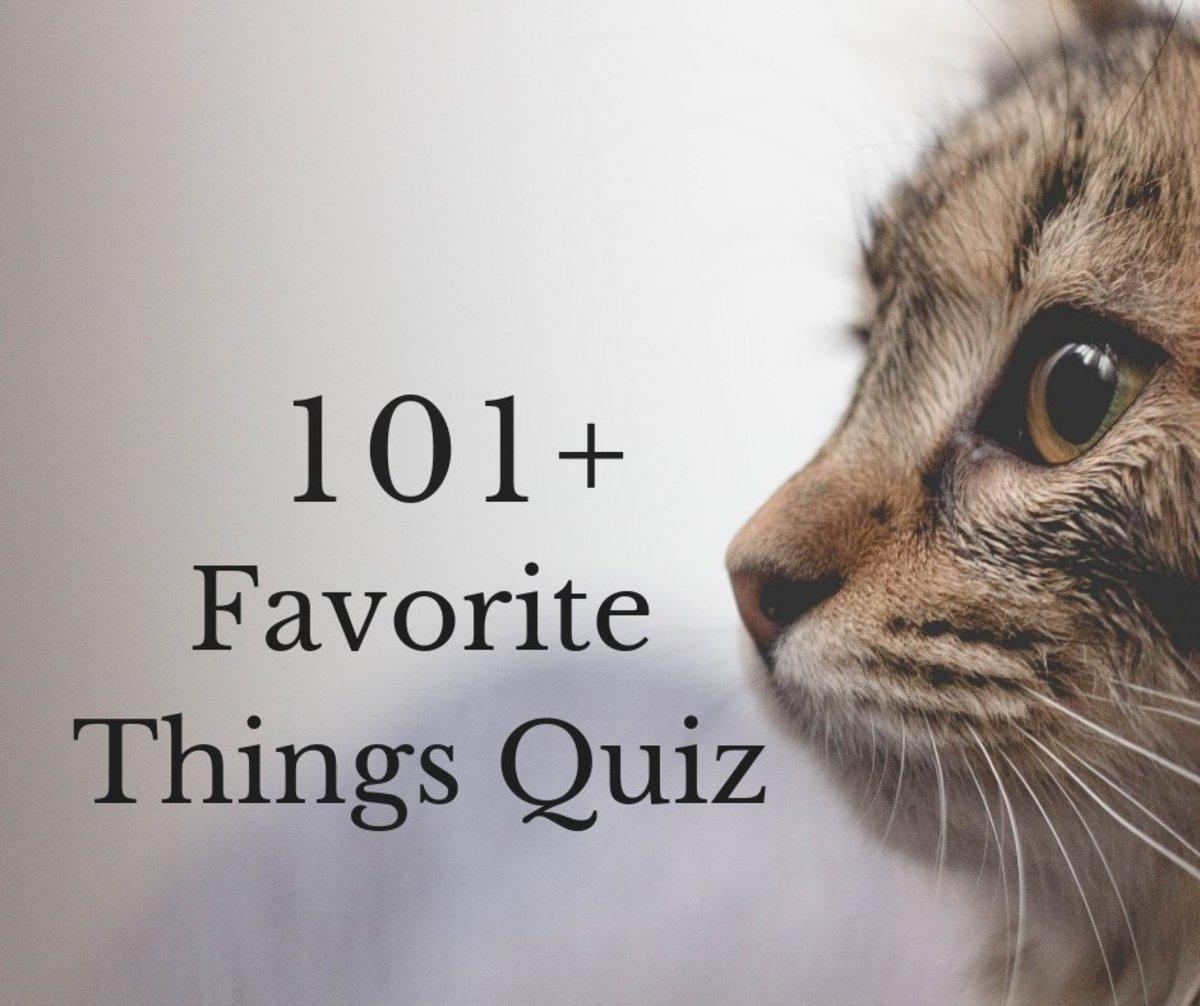 The 101 Favorite Things Quiz Hobbylark Games And Hobbies
