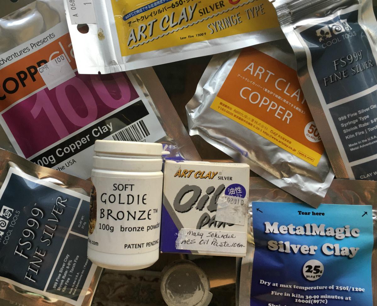 5 Forms of Metal Clay: Lump, Powder, Slip, Syringe & Paper