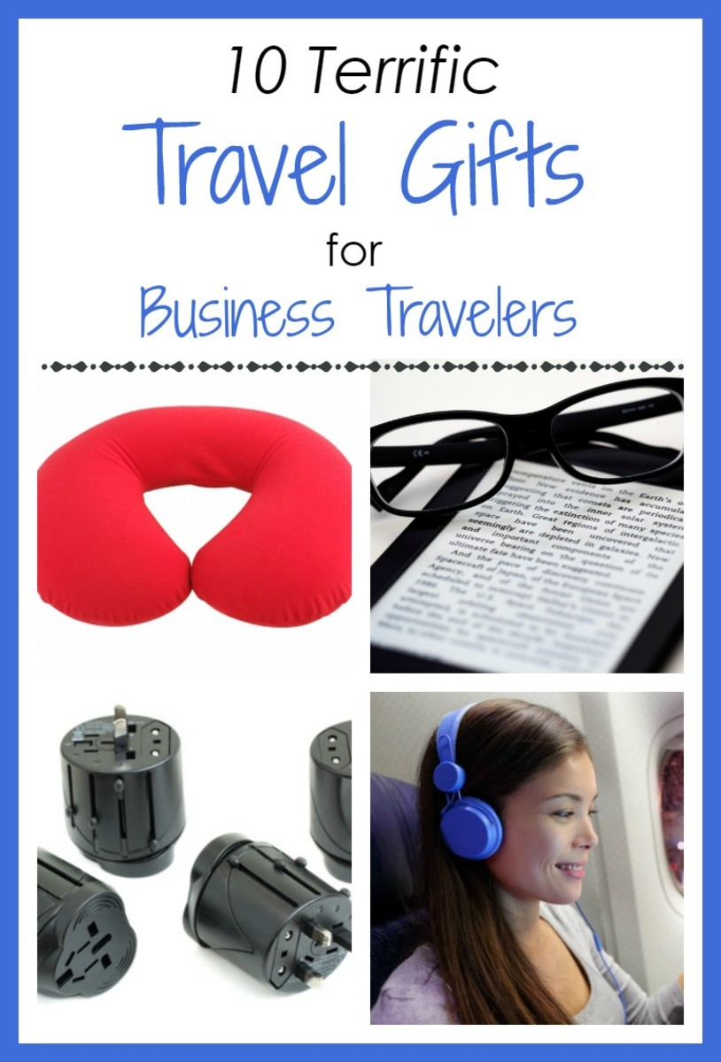 10 terrific travel gifts to make life on the road - or on an airplane or train - more relaxing, productive and enjoyable!