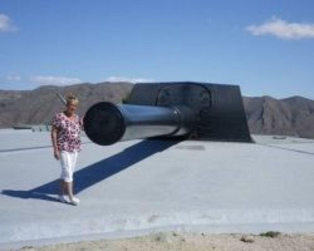 Abandoned 15 inch Calibre Gun