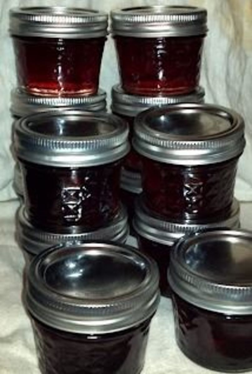 Homemade Basil Grape Jelly Using Grape Juice