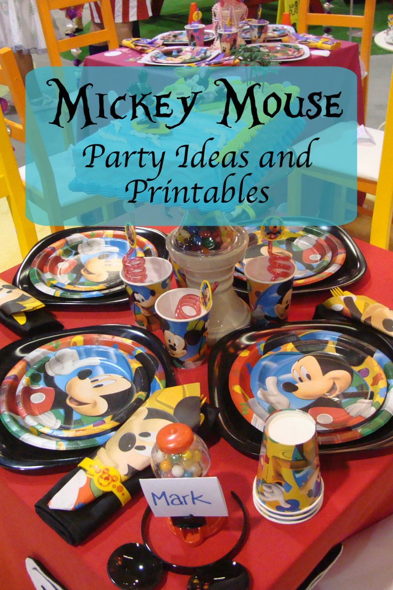 Disney Mickey Mouse Party Ideas and Free Printables