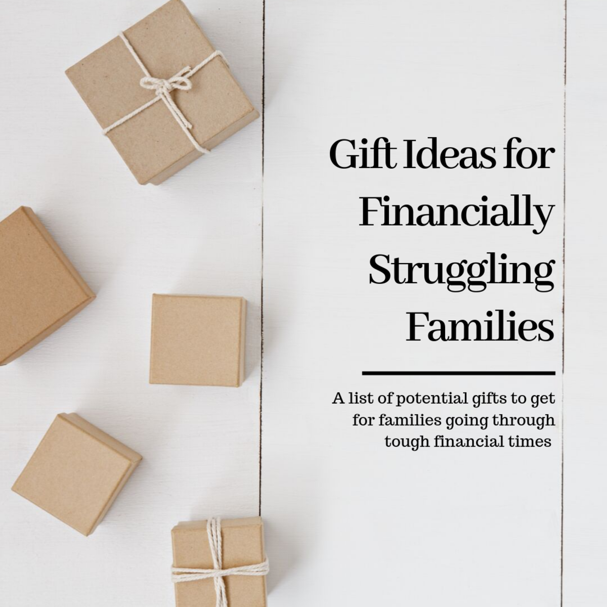 This article will list many different practical gifts to get for families that are struggling financially.