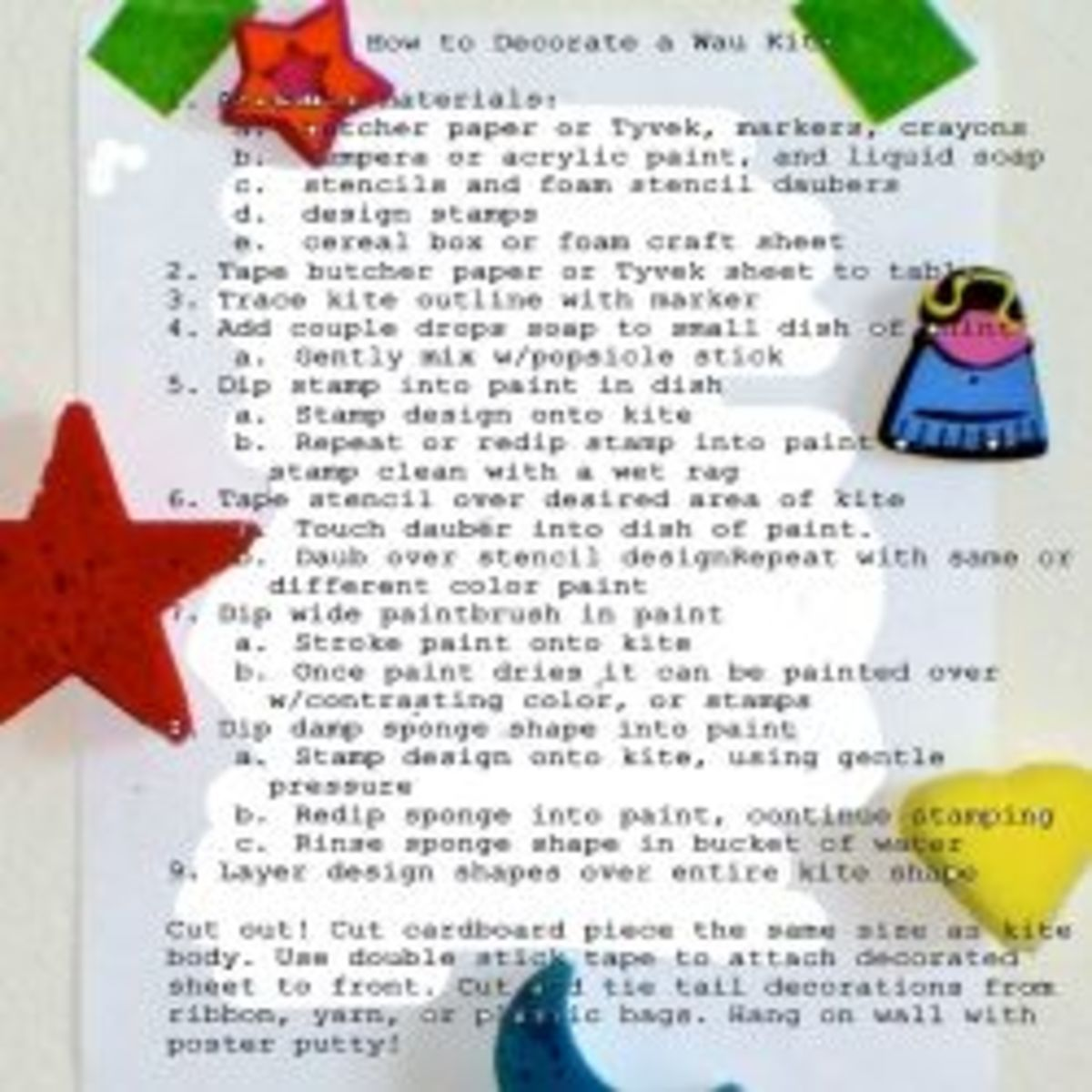 How to Decorate a Wau Kite