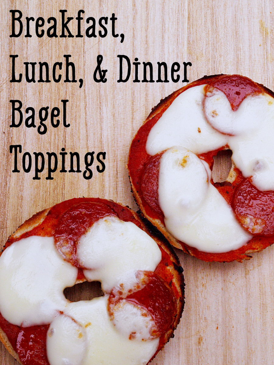 Bagels can be eaten at any time!