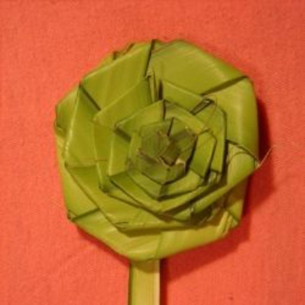 How to Make a Palm Rose