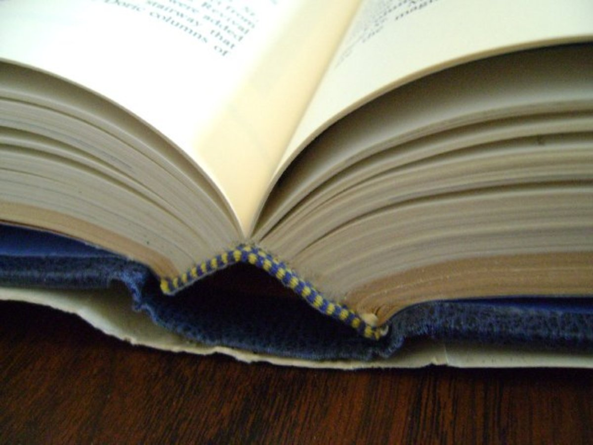 When the spine of a book breaks, it's easy to fix with the right glue.
