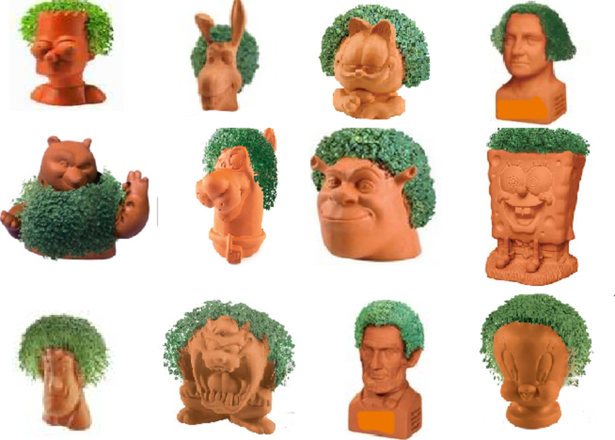 This is just a sampling of the wide variety of Chia Pets.