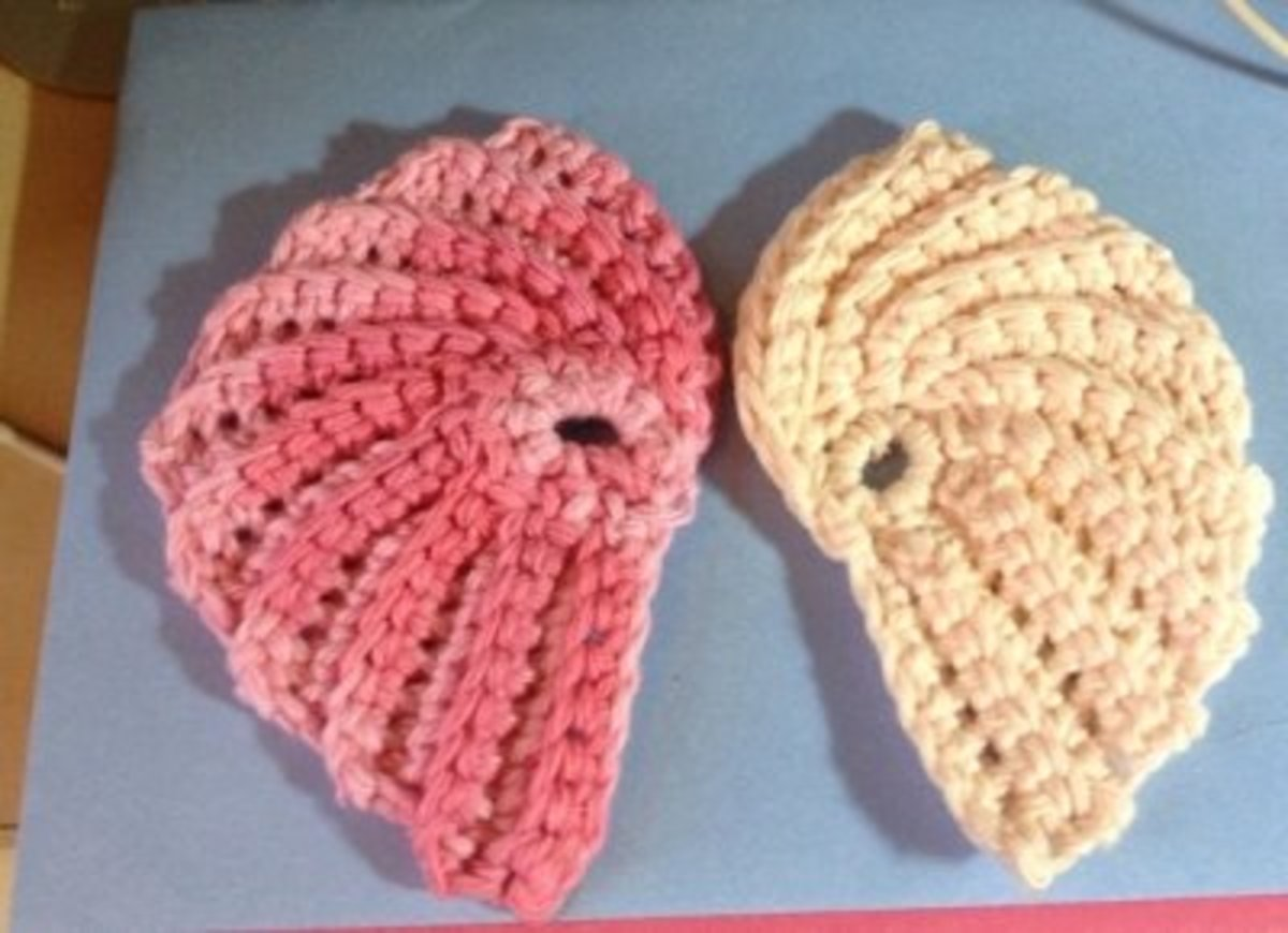 Angel Wing Scrubbie: Free Crochet Pattern